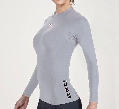 Camisa DX-3 Feminina Manga Longa - Alta Compressão