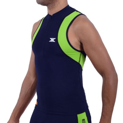 Top DX-3 Masculino de Triathlon - Alta Compressão