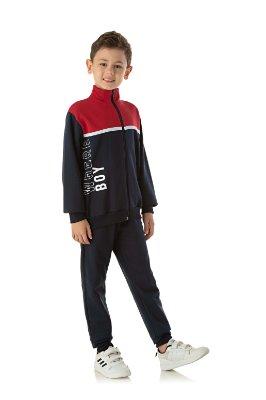 Conjunto infantil moletom masculino com jaqueta