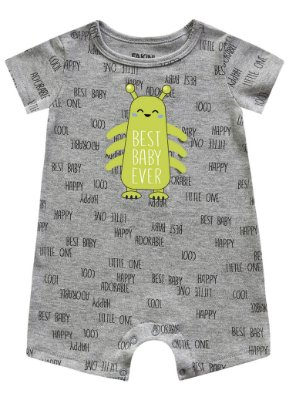 Macacão bebê masculino manga curta