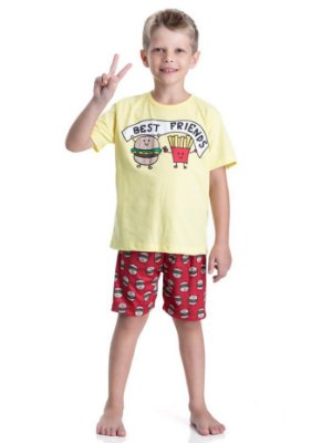 Pijama infantil curto menino best friends