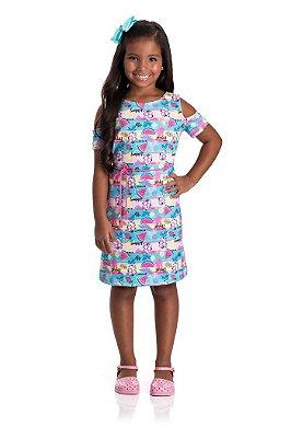 Vestido infantil verão tropical