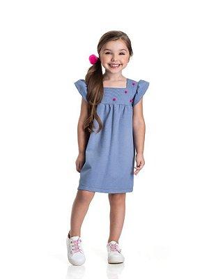 Vestido infantil menina pompom
