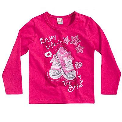 Blusa ML tênis rosa
