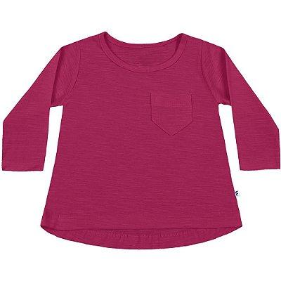Blusa Bebê ML básica pink