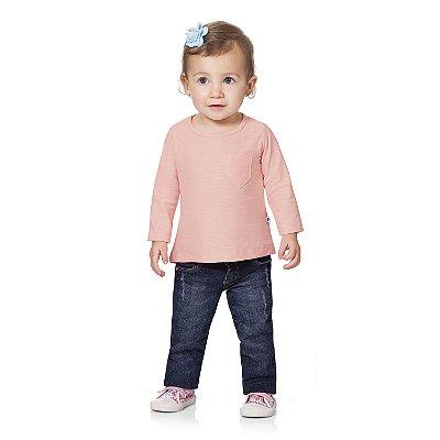 Blusa ML básica rosa