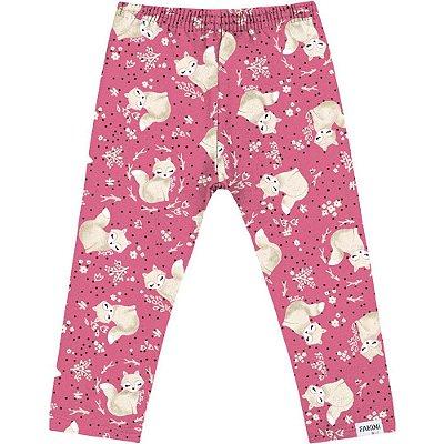 Legging raposinha rosa
