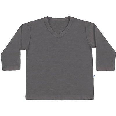 Camiseta ML básica cinza