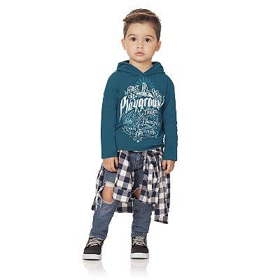 Camiseta ML playground azul petróleo