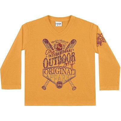 Camiseta ML outdoor amarelo mostarda