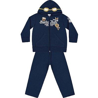Conjunto moletom aviador azul marinho