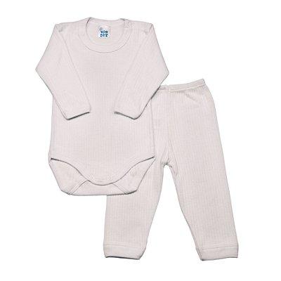 Conjunto básico ML body e calça branco