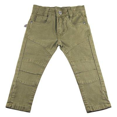 Calça jeans verde militar