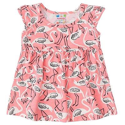 Vestido bebê flamingos