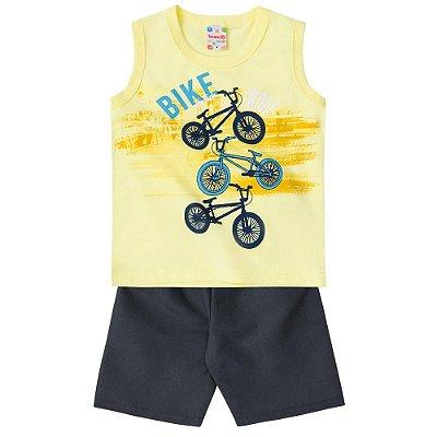 Conjunto infantil bike amarelo