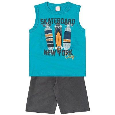 Conjunto infantil skateboard Brandili