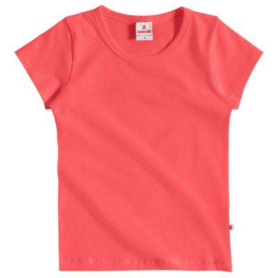 Camiseta infantil básica coral