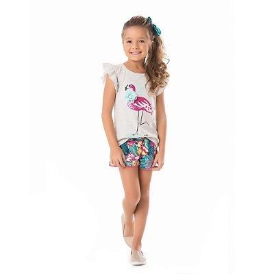 Conjunto infantil flamingo/floral