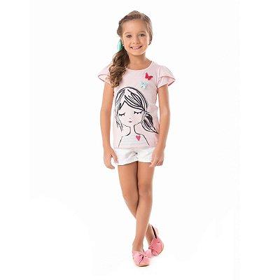 Blusa infantil boneca borboleta