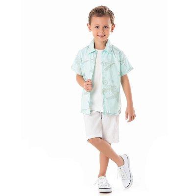 Camisa infantil folhas
