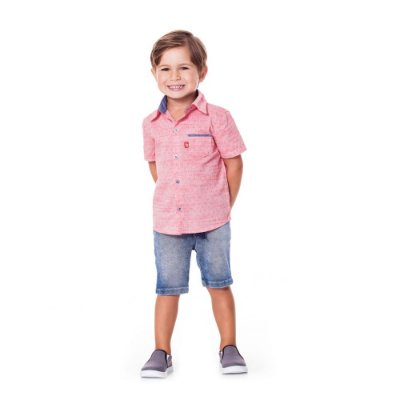 Camisa infantil coral