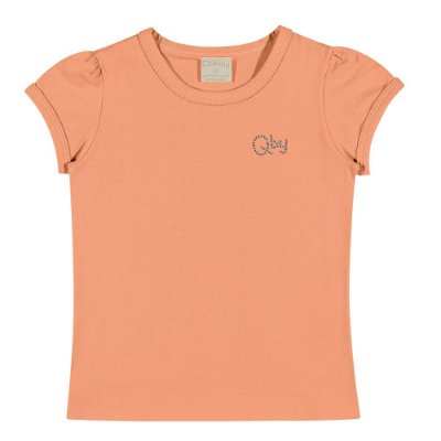 Camiseta básica infantil salmão