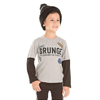 Camiseta infantil ML grunge