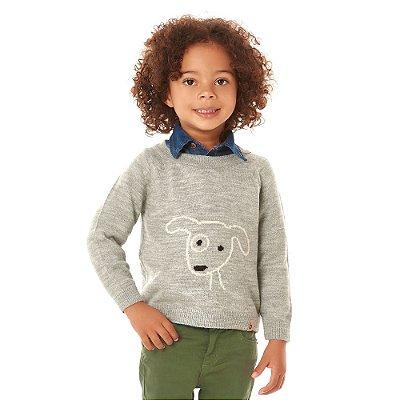 Sueter infantil lã dog mescla