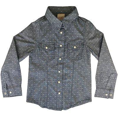 Camisa infantil ML jeans poá