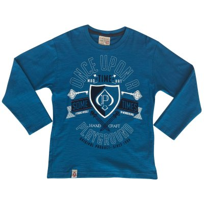 Camiseta infantil ML sometimes azul