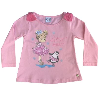 Blusa Infantil ML let it snow