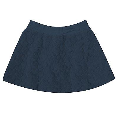 Saia short's infantil pêlo azul marinho