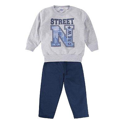 Conjunto moletom infantil street