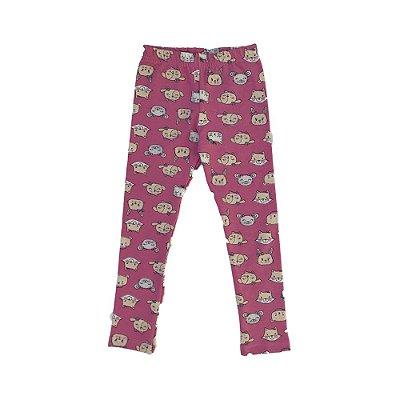 Legging peluciada bichos rosa