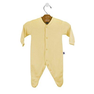 Macacão básico bebê prematuro amarelo