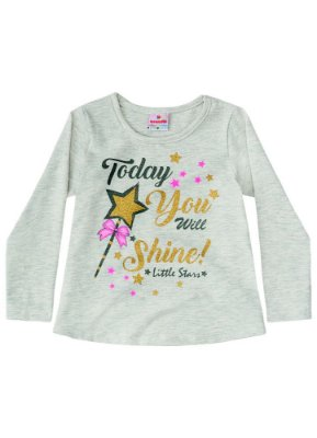 Camiseta infantil ML estrelas mescla