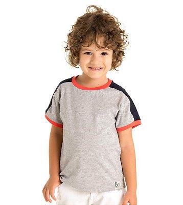 Camiseta infantil menino mescla