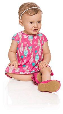 Vestido bebê menina sorvetes