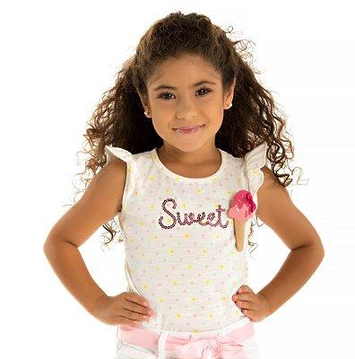 Blusa infantil baby look sorvete