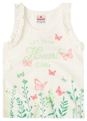 Regata infantil menina borboletas