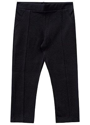 Calça legging infantil montaria preta