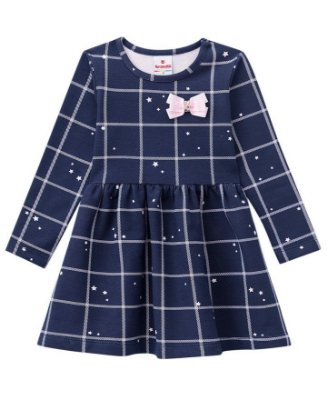 Vestido infantil inverno manga longa