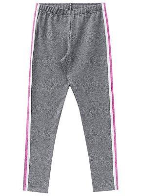 Calça legging infantil com listra lateral