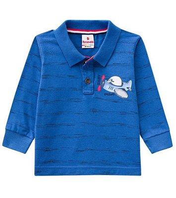 Camisa polo bebê manga longa