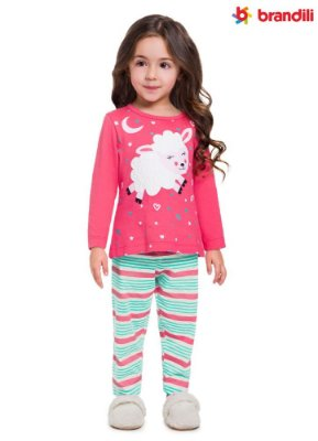 Pijama infantil menina ovelhinha