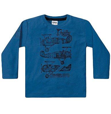 Camiseta ML menino aviões