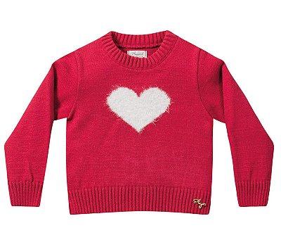 Casaco infantil tricô menina