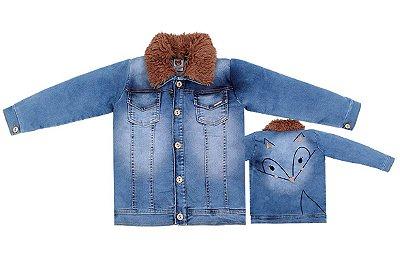 Jaqueta Infantil Jeans Menina