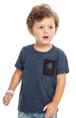 Camiseta infantil menino com bolsinho - TAL FILHO