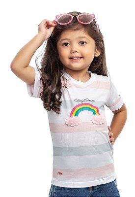 Blusa infantil feminina arco íris